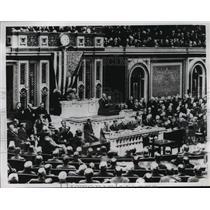 1917 Press Photo President Woodrow Wilson Addresses Congress Pre-World War I