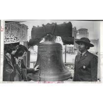 1976 Press Photo Liberty Bell in Independence Hall, Philadelphia, Pennsylvania