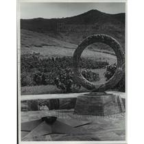 1979 Press Photo Eternal Flame at Cemetery in Cuba's Sierra Maestra Mountains