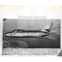 1956 Press Photo Dassault Mystere IV French Jet Plane - ftx01790