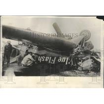 1930 Press Photo Capt Roy Ammel Injured During Take Off in His Plane Blue Flash