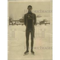 1925 Press Photo Francis Allen Annexed International Ice Skating Championship