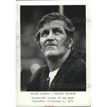 1973 Press Photo National Football League Player of the Week, George Blanda