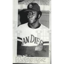 1972 Press Photo San Diego Padres baseball player, Nate Colbert - sps01095
