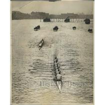 1928 Press Photo View on the Thames During Annual Oxford & Cambridge Boat Race