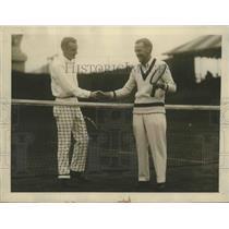 1924 Press Photo Harold Throckmorton & Pat O'Hara Meet in First Round of Tennis