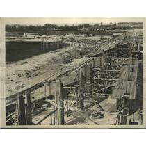 1927 Press Photo Spectators Stand Being Erected in the New Stadium for Olympics