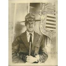 1915 Press Photo Major JK Boles US Rifle team at matches in Paris France