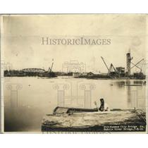 1926 Press Photo Bridge Construction Over Tensaw River in Mobile, Alabama