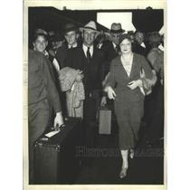 1932 Press Photo Charlie Grimm and Mrs Grimm, Manager of Chicago Cubs.