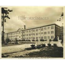 1941 Press Photo Spring Hill College Dormitory Building Exterior in Mobile, Ala.
