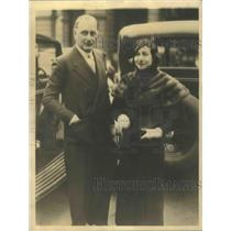 1932 Press Photo Kaye Don British speed king & bride in Paris France - sbx01817
