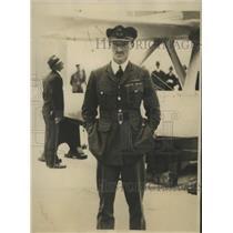 1928 Press Photo Flight Lt D'Arcy Grieg British flier in London for speed trials