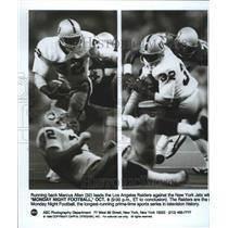 1989 Press Photo Los Angeles Raiders football running back, Marcus Allen