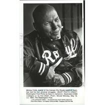 1983 Press Photo Mickey Cobb, trainer of the Kansas City Royals baseball team