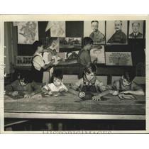 1939 Press Photo Art Room of the Birmingham Boys Club in Birmingham, Alabama