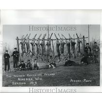 1913 Press Photo The Towne's Family and Friends Hunting Yield-Niagara, Wisconsin