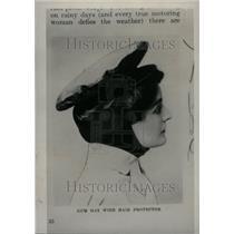1934 Press Photo Gum Hat Hiar Protector Motor Women - RRU30971