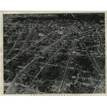 1932 Press Photo Aerial view of Camaguey, Cuba After Hurricane  - mjx26944