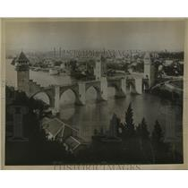 1927 Press Photo Centuries Old French Bridge Between Vanentre and Cahors