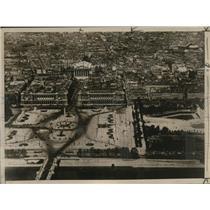 1926 Press Photo Clear View of the Place de la Concord Paris, France - mjx27197