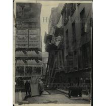 1926 Press Photo Tenement in Rue du Platre Wrecked by Big Bertha Paris, France