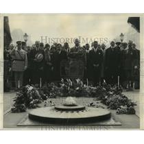 1927 Press Photo Officers of the American Legoin Upon Arrival in Paris, France