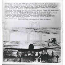 1950 Press Photo Damage by Anti-Aircraft Fire During Air Strike NW Korea