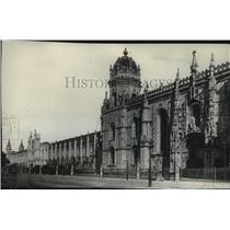 """1930 Press Photo The Church of San Jeronimos, Portugal's """"Westminster Abbey"""""""