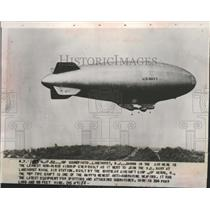 1952 Press Photo US Navy Airship at Lakehurst Naval Air Station New Jersey