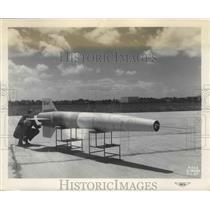 1948 Press Photo 16' Diameter Ram Jet Model for NACA Flight Research - ney26594