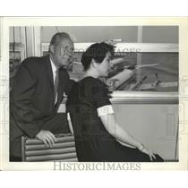 1959 Press Photo Donald Patrick Airport Commissioner & Daughter Donna Age 24