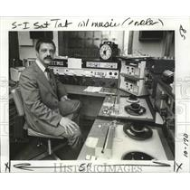 1977 Press Photo Christopher Albright, new general manager of WWNO radio station