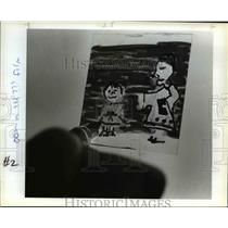 1983 Press Photo A filmstrip showing a boy and a priest in film making class