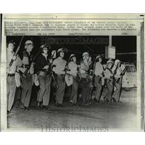 1970 Press Photo Members of Beaver County Tactical Police Force skirmish line.