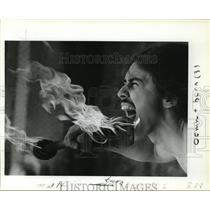 1984 Press Photo Fire Eater - orb67840
