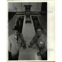 1983 Press Photo Raymond C. Burton, Jr., (L) & William R. Galbraith - orb70157