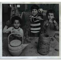 1974 Press Photo Friendly House preschoolers-Wendeborn, Macy and Bettis