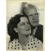 1934 Press Photo Charles Faye, Brother Alice Faye, Bonnie Barron, Wed Ti Juana