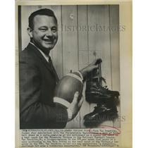 1961 Press Photo Norm Van Brocklin Former Philadelphia Eagles Football Player