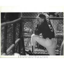 1991 Press Photo Seattle Mariners baseball manager, Jim Lefebvre - sps03069