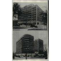 1928 Press Photo The Ambassador and The Newbern Hotels on Kansas Cities Soutside