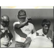 1984 Press Photo Chuck Knox-Seattle Seahawks Football Club Head Coach - sps03181