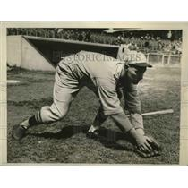 1931 Press Photo Cardinals shortstop Charley Gelbert in action - sbs04058