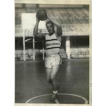 1928 Press Photo Paul Scullk Appeared for Basketball Team of Penn University