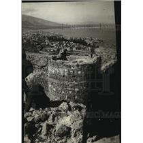 1915 Press Photo Looking Nest on Mount Pegasus Where Bombardment is Taking Place