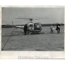 1987 Press Photo Air General Jet Helicopter, Logan International Airport, Boston