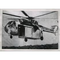 Press Photo Sikorsky S-64 Skycrane Carrying Trailer - mja59548