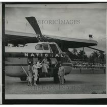 1953 Press Photo The First Helicopter Service Was Inaugurated At Tropical Park