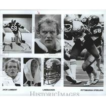 1989 Press Photo Jack Lambert-Pittsburgh Steelers' Linebacker in Various Shots